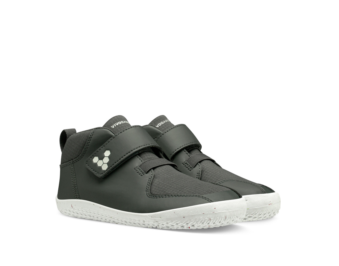 Vivobarefoot PRIMUS BOOTIE II ALL WEATHER KIDS CHARCOAL ()