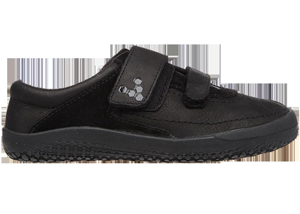 Detské topánky pre zdravé chodidlá - Vivobarefoot RENO K Leather Black 22d5672cc2