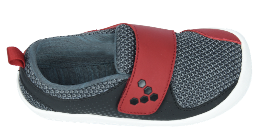Vivobarefoot MINI PRIMUS K Mesh Black/Red ()