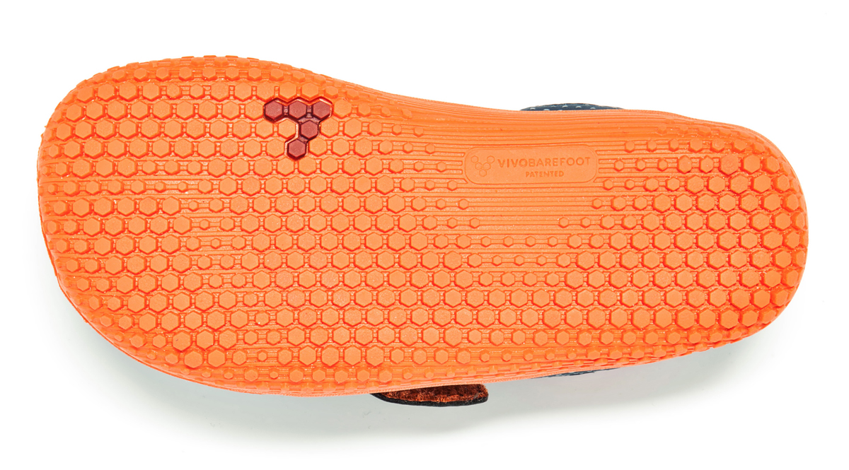 Vivobarefoot PRIMUS KIDS K Navy/Orange ()