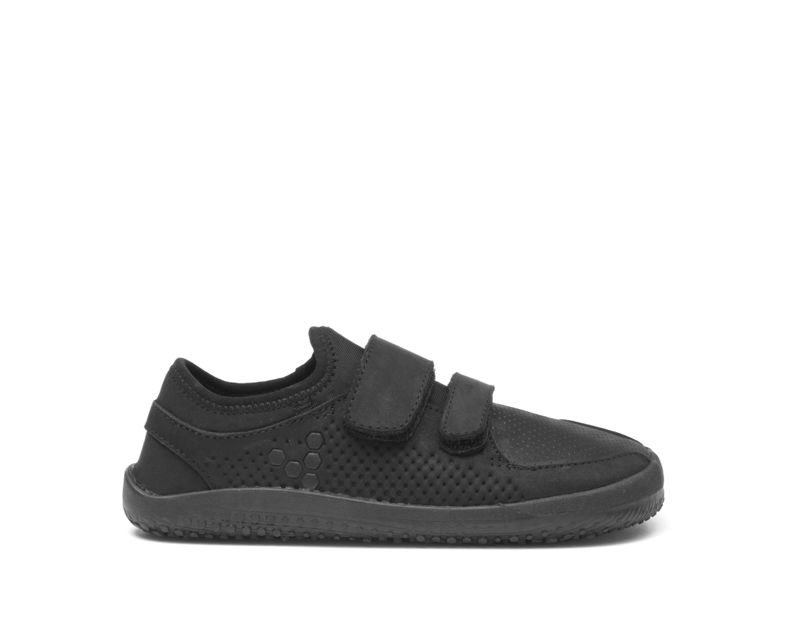Vivobarefoot PRIMUS SCHOOL Kids Leather Black ()