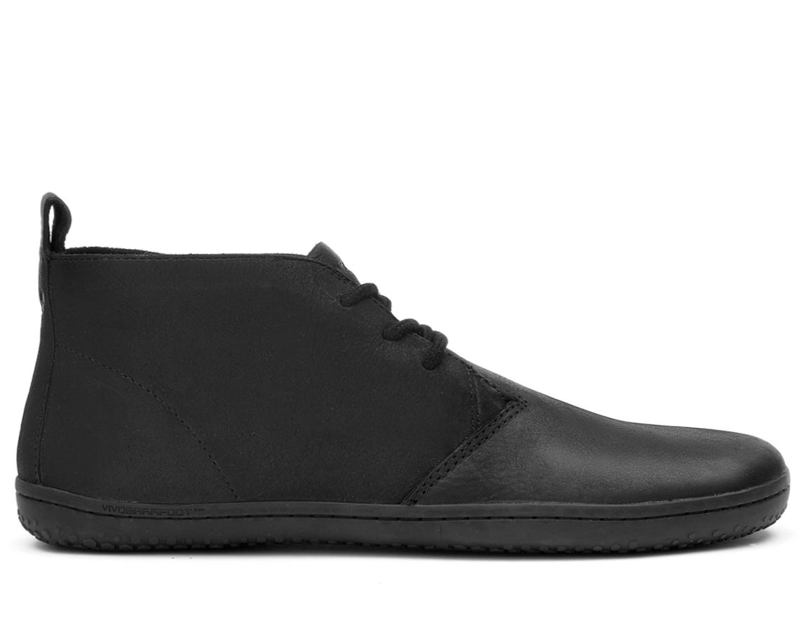 Pánske čierne kožené topánky - Vivobarefoot GOBI II M Leather Black Hide 3591ab7186c