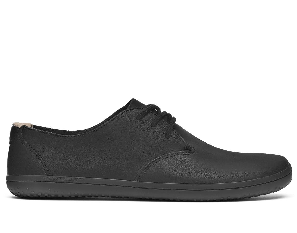 Vychádzková obuv - pánska - Vivobarefoot RA II M Leather Black Hide 647648da2b0