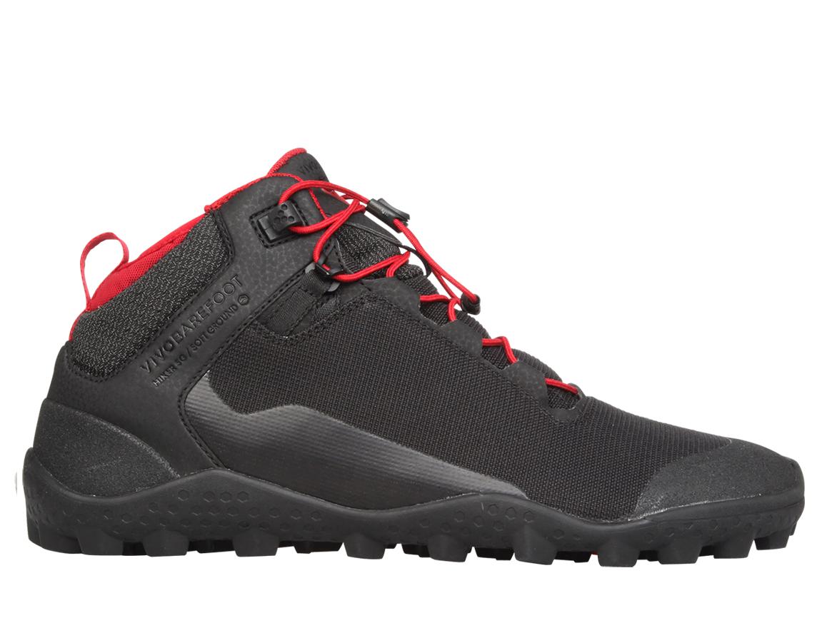 Dámske turistické topánky - Vivobarefoot HIKER SG L Mesh Black f1bfef80d83