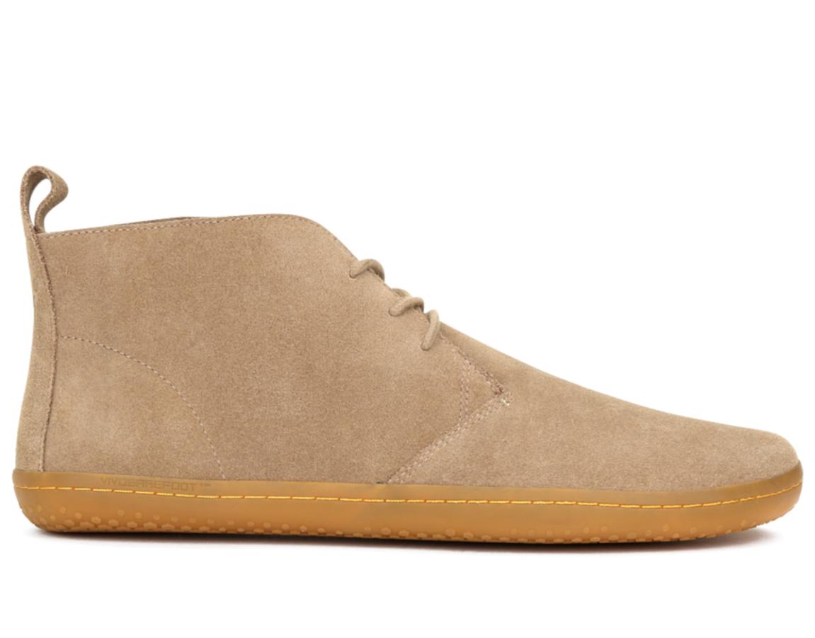 Pánske kožené členkové topánky - Vivobarefoot GOBI II M Suede Lt Brown 2ec1846a990