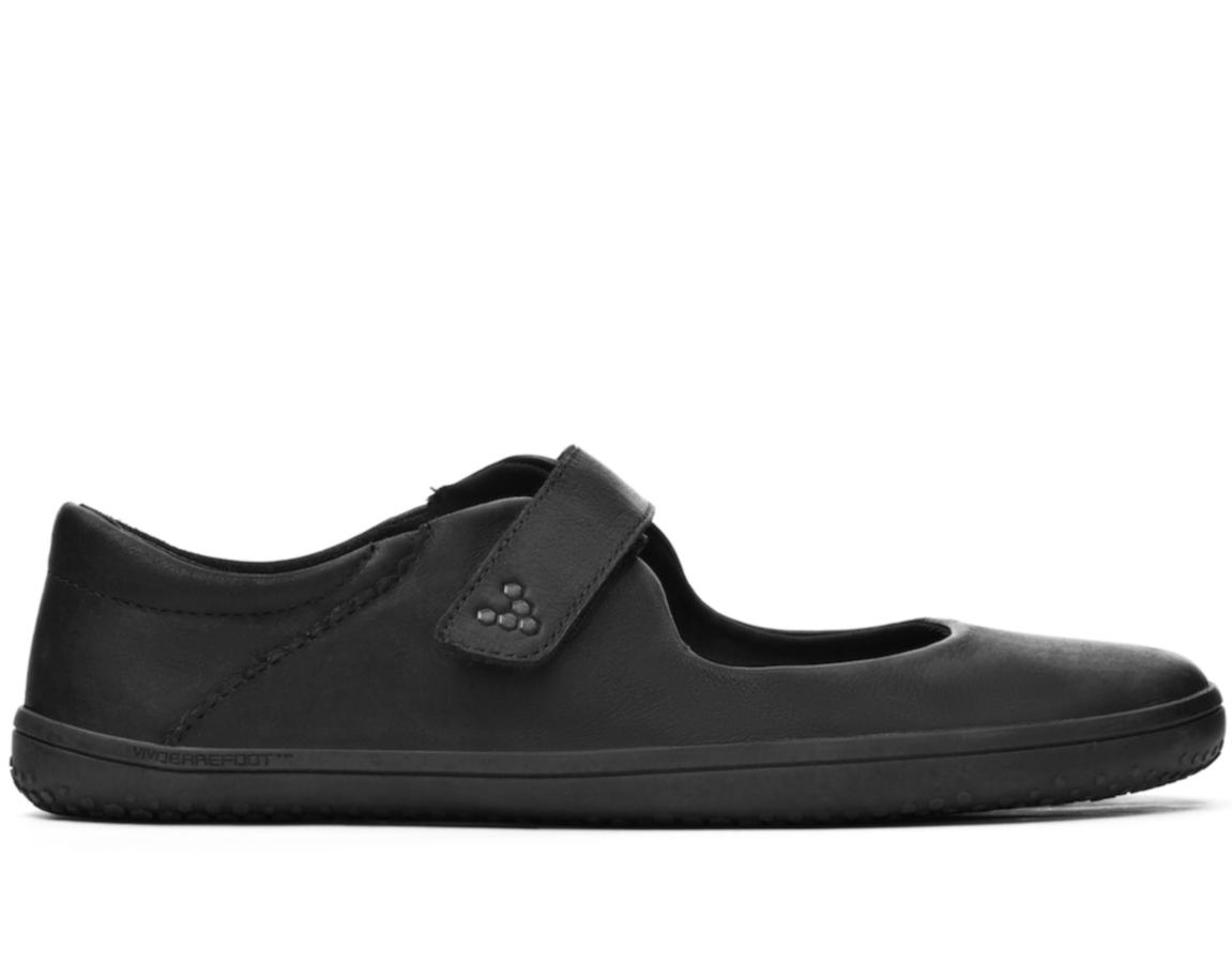 Vivobarefoot WYN J Leather Black/Hide