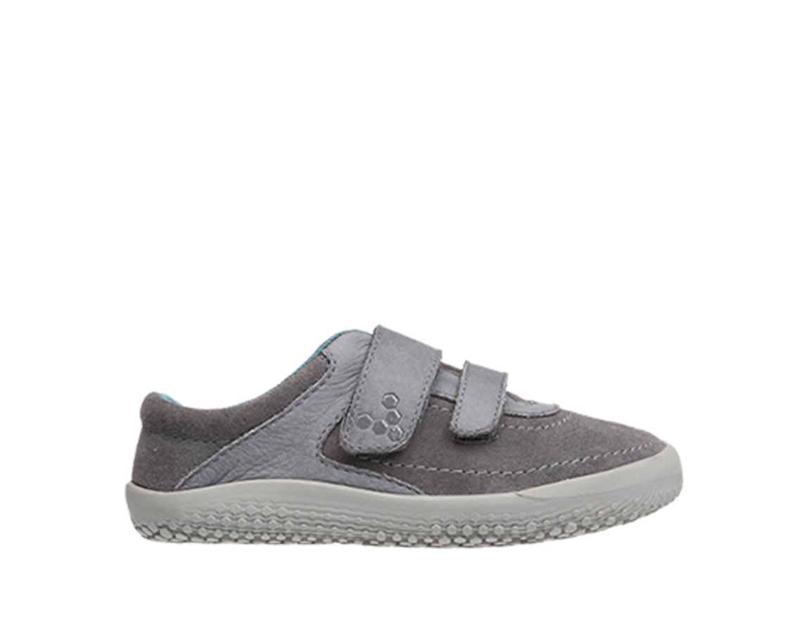 Detské kožené topánky - Vivobarefoot RENO K Leather Grey f7ec8c10f4