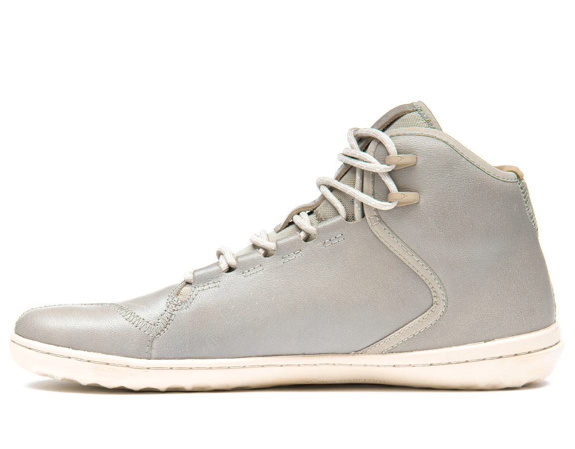 Vivobarefoot BOROUGH M Leather Light Grey ()