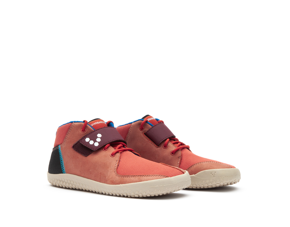 Vivobarefoot PRIMUS BOOTIE J Leather Terracotta ()