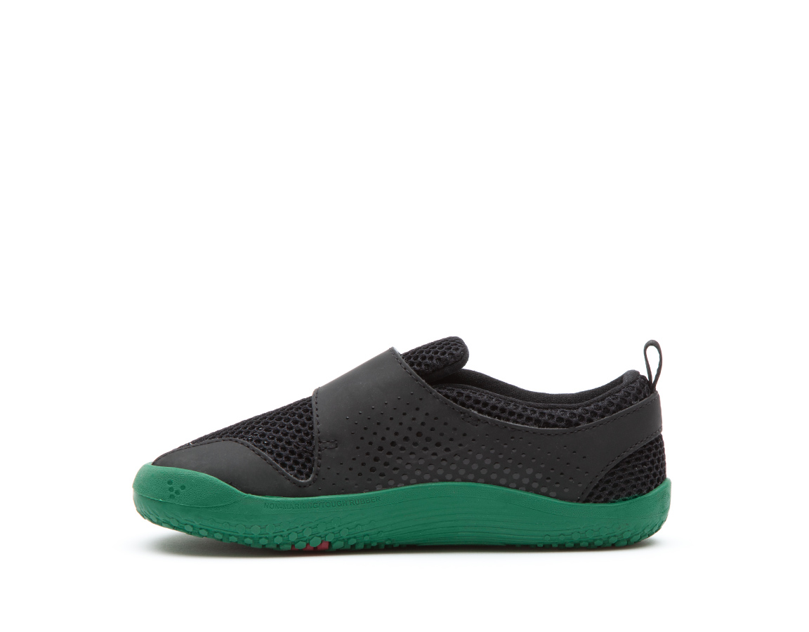 Vivobarefoot PRIMUS KIDS K Black/Green ()