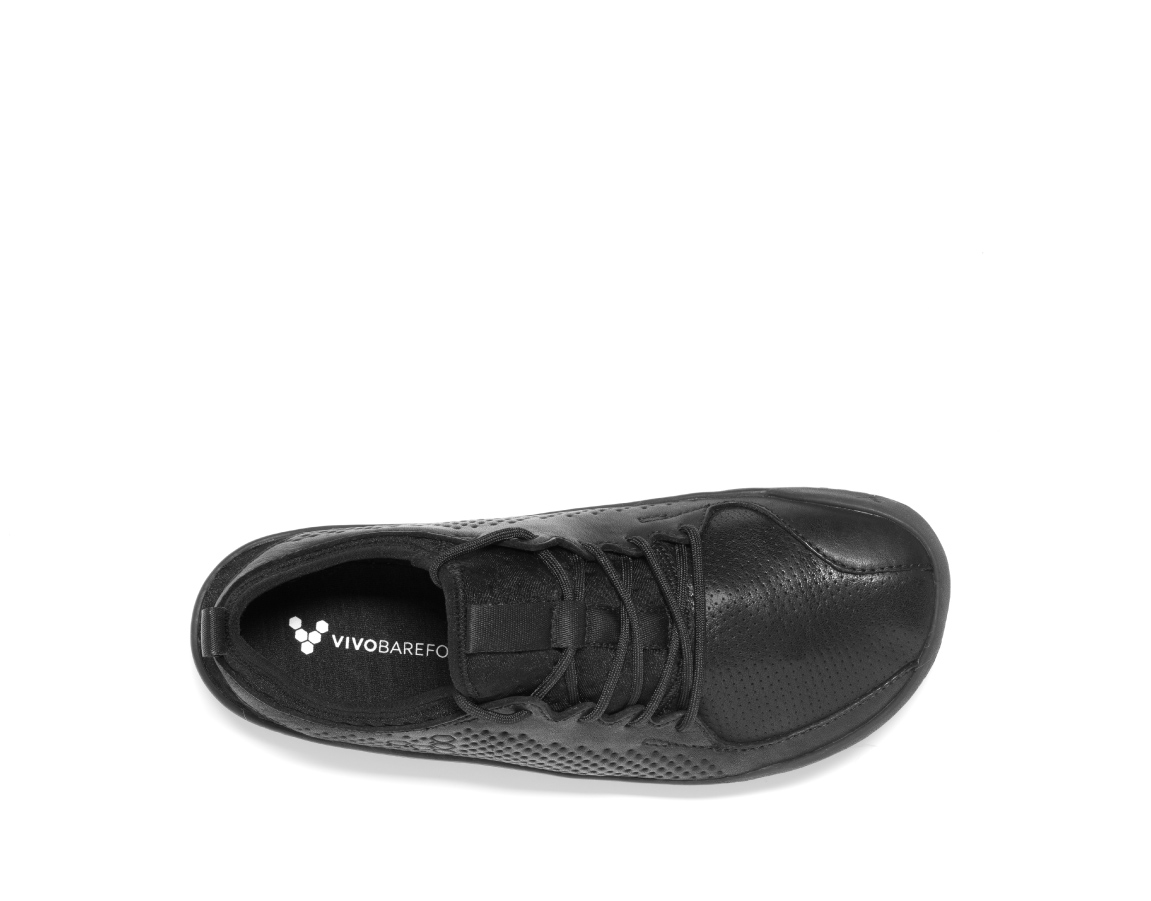 Vivobarefoot PRIMUS SCHOOL J Leather Black ()