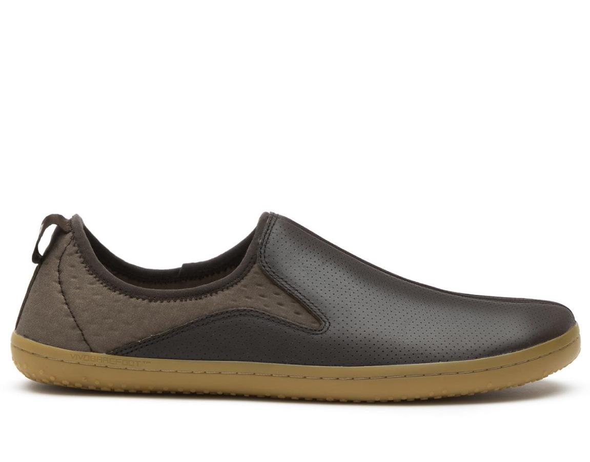 Vivobarefoot SLYDE M Leather DK Brown