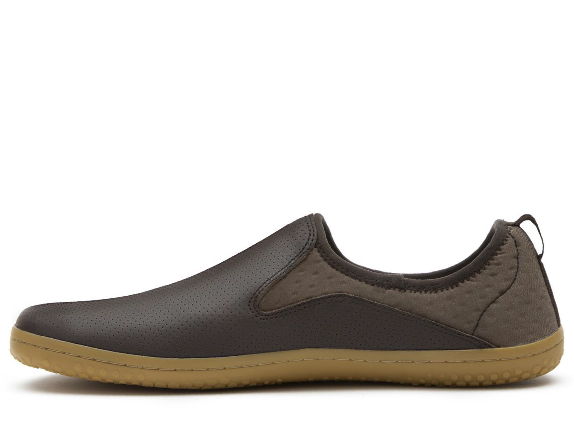Vivobarefoot SLYDE M Leather DK Brown ()