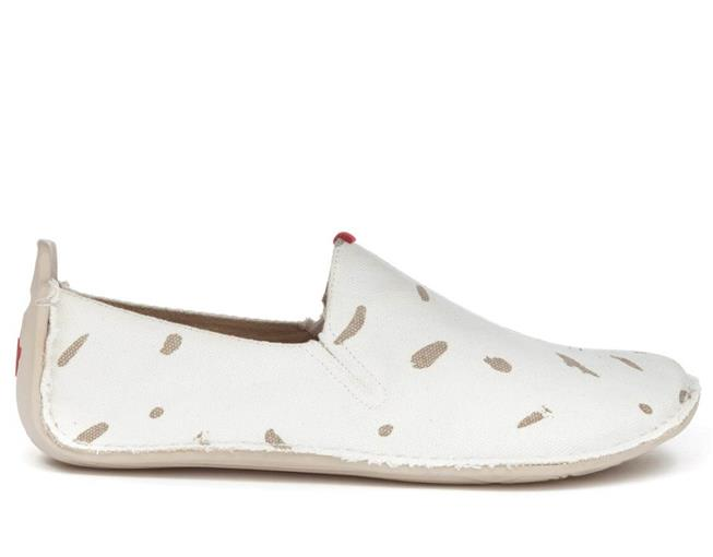 Vivobarefoot ABABA L Canvas Swipe White