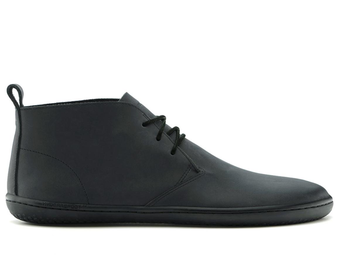 0fed9366ea Pánske kožené členkové topánky - Vivobarefoot GOBI II M Black