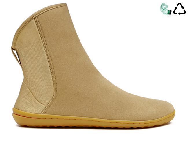 Dámske zimné barefoot topánky - Vivobarefoot SHARPEI L Eco Suede Tan cb176a925f9