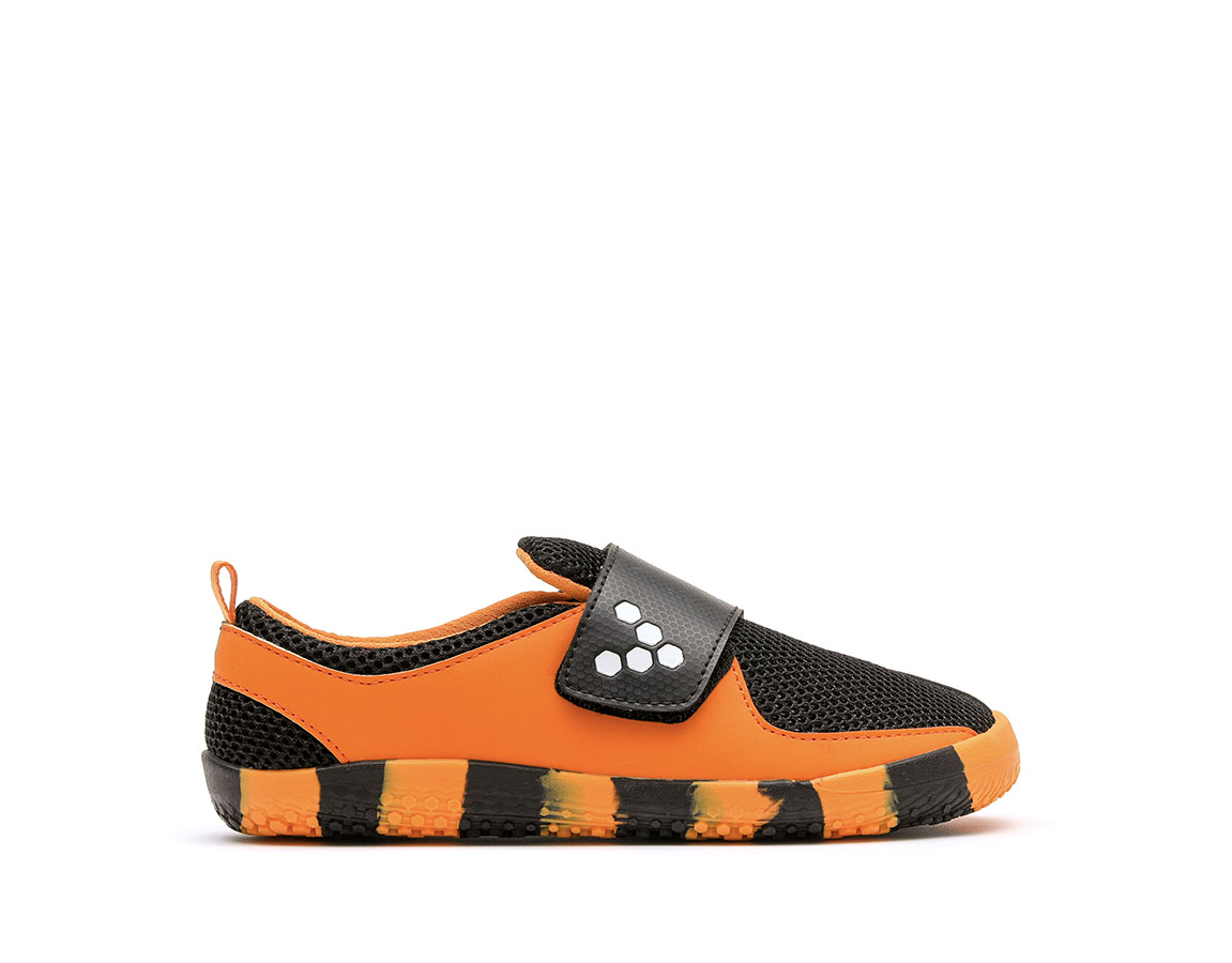 Vivobarefoot PRIMUS KIDS K Tiger Orange/Black ()