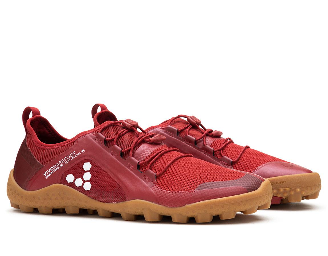 Vivobarefoot PRIMUS TRAIL SG M Mesh Red/Gum ()