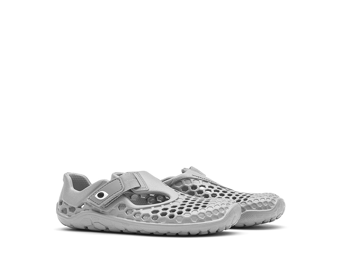 Vivobarefoot ULTRA K BLOOM Grey Dolphin ()