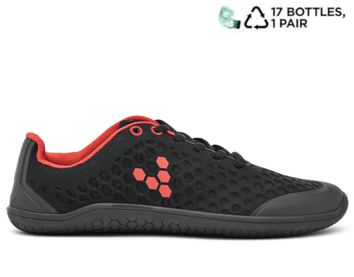 Vivobarefoot STEALTH 2 L BR Black/Red