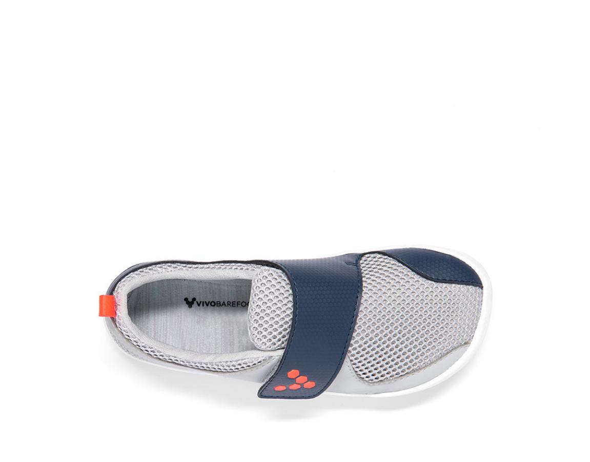 VIVOBAREFOOT PRIMUS KIDS Grey Navy Orange Textile ()
