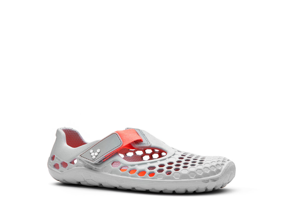 VIVOBAREFOOT ULTRA K Light Grey Neon Orange Bloom ()