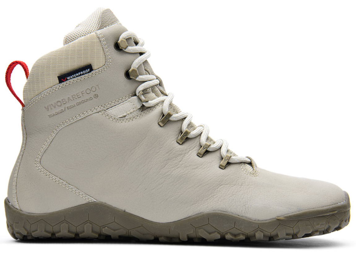 Vivobarefoot TRACKER FG M Cement Cream Leather