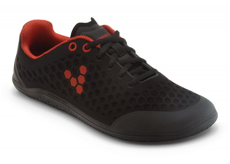 Vivobarefoot STEALTH 2 L BR Black/Red (2)